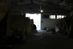 Campo militarizado de Vasilika. Vista interior. Tiendas