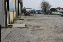 Campo militarizado de Vasilika. Vista desde el interior