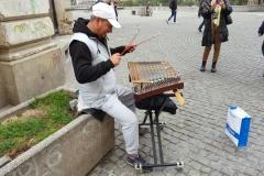 Músicos callejeros en Bucarest